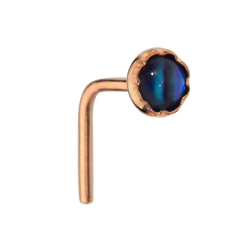 Nose Ring / Nose Stud - 14K Yellow/Rose Gold Filled  - 3mm Abalone Shell