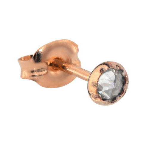 Tragus Earring / Cartilage Earring - 14K Yellow/Rose Gold Filled - 3mm Cubic Zirconia