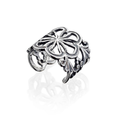 Non Piercing Flower Conch Ear Cuff 925 Sterling Silver