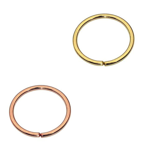 Free Valentine's Day Gift - Select Option and Add To Cart - Set of Two Nose Rings/Cartilage Hoops Select Any Combination of Metals Yellow/Rose Gold Filled or Sterling Silver