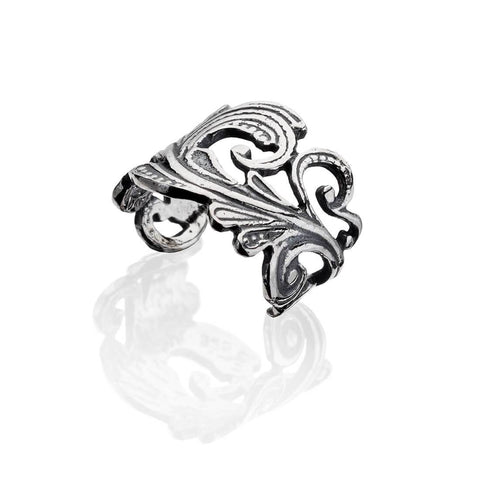 Non Piercing Lace Conch Ear Cuff 925 Sterling Silver