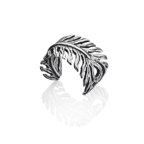 Non Piercing Feather Conch Ear Cuff 925 Sterling Silver