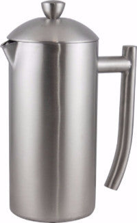 Grunwerg Brushed Stainless Steel Cafetière <br/>(Double Walled)