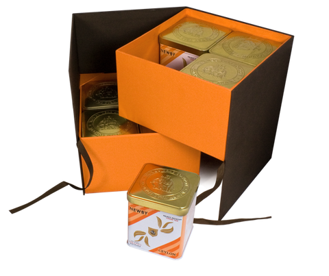 Presentation Case with Tea Caddies