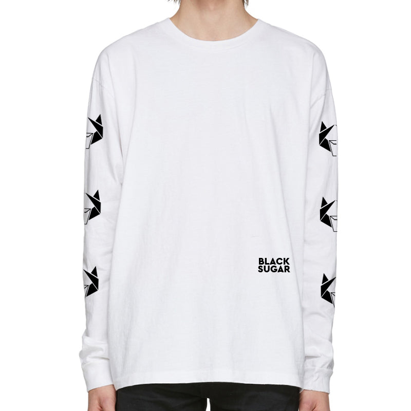Black Sugar Long Sleeve Tee_ White