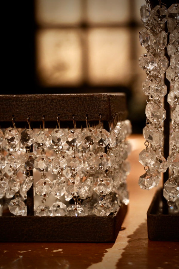 Crystal Square Candle Holder Brown S