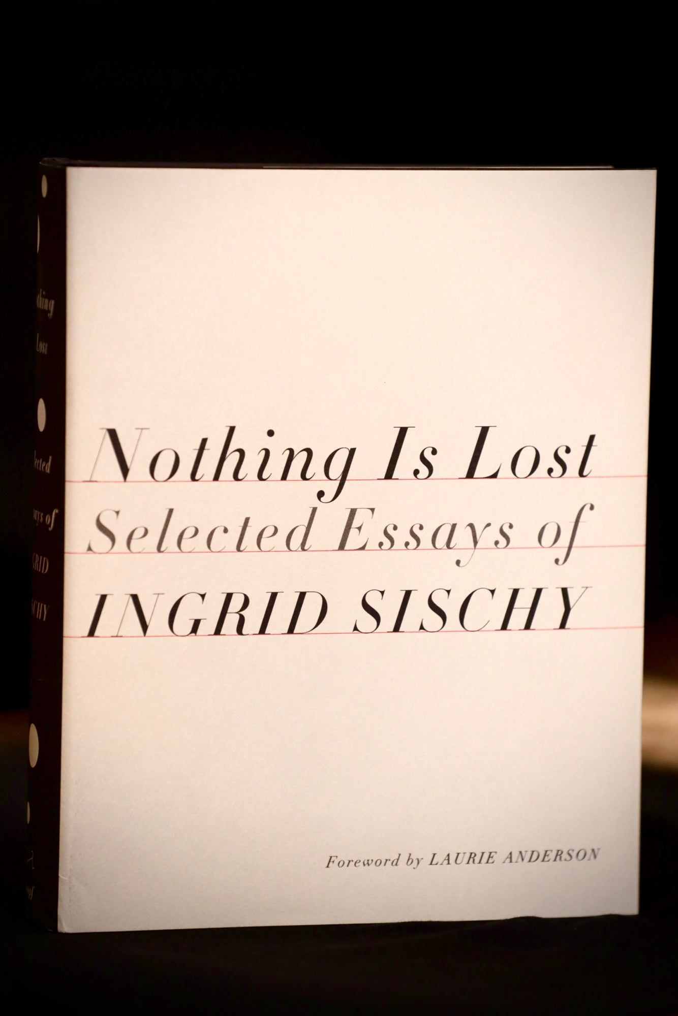Nothing is Lost: Selected Essays of Ingrid Sischy