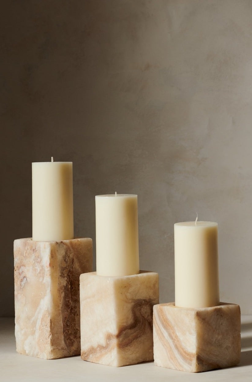 Salt Candle Holder Natural S M L