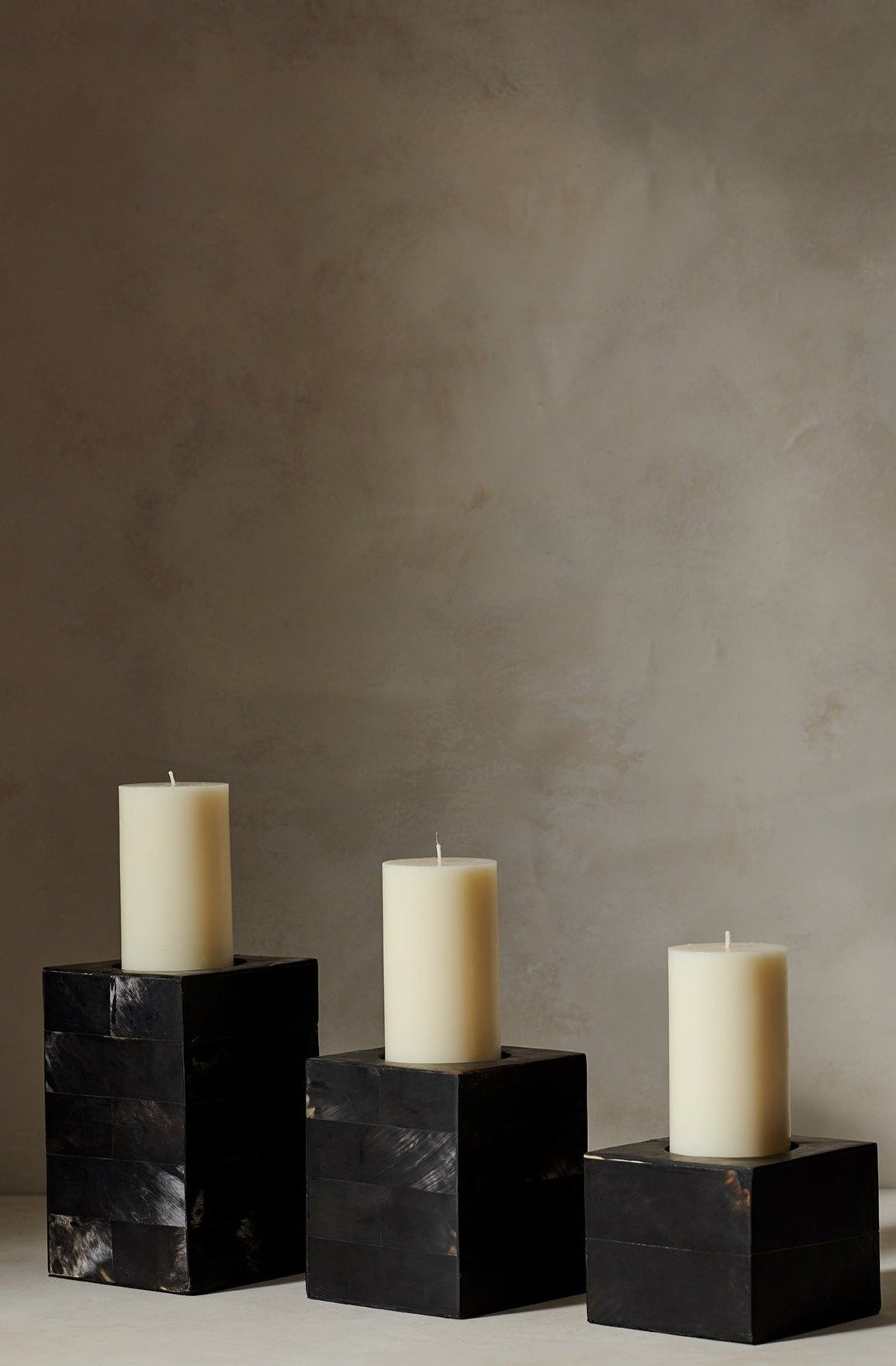 Black Horn Candle Holder