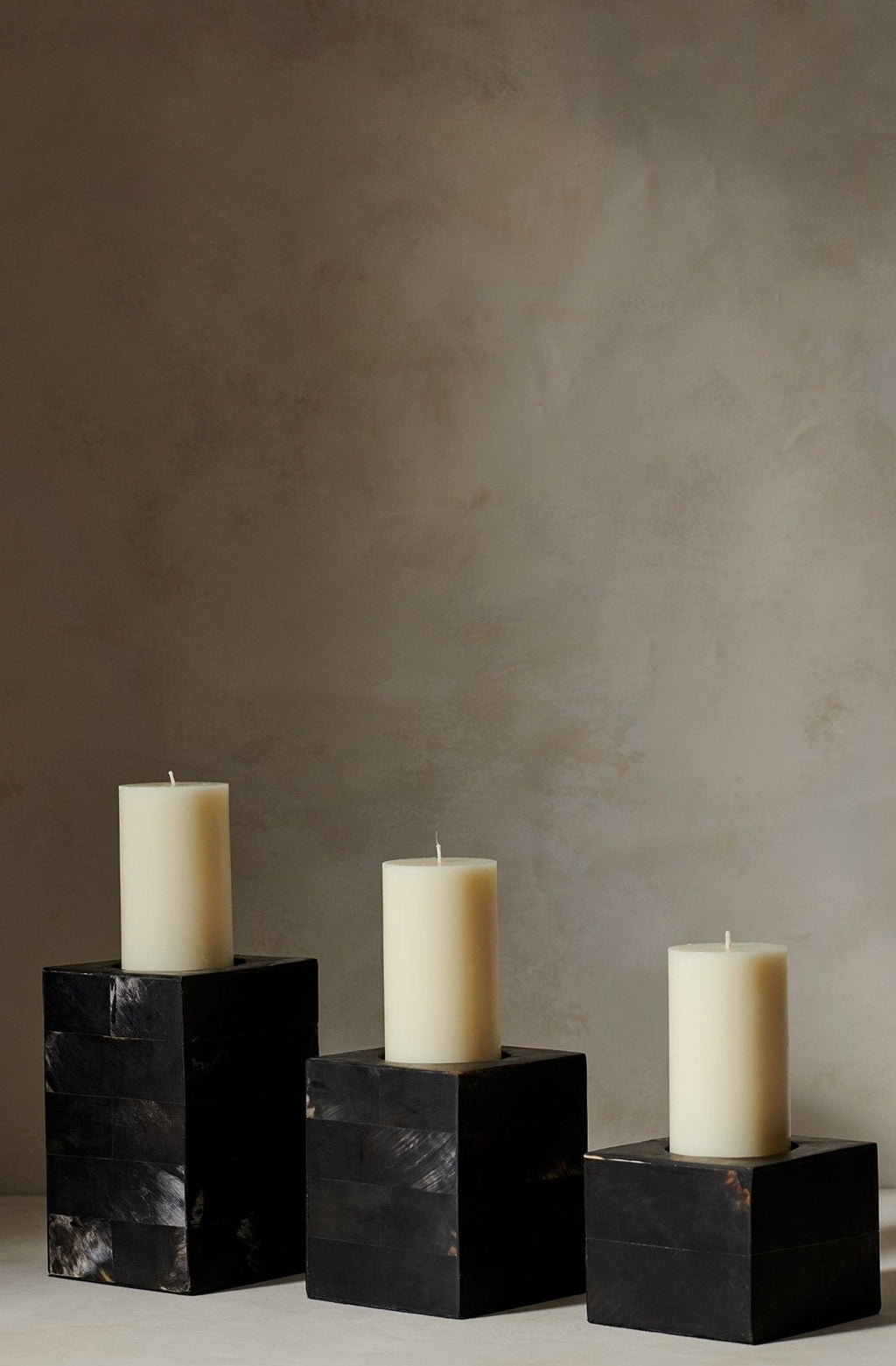 Black Horn Candle Holder Black S M L