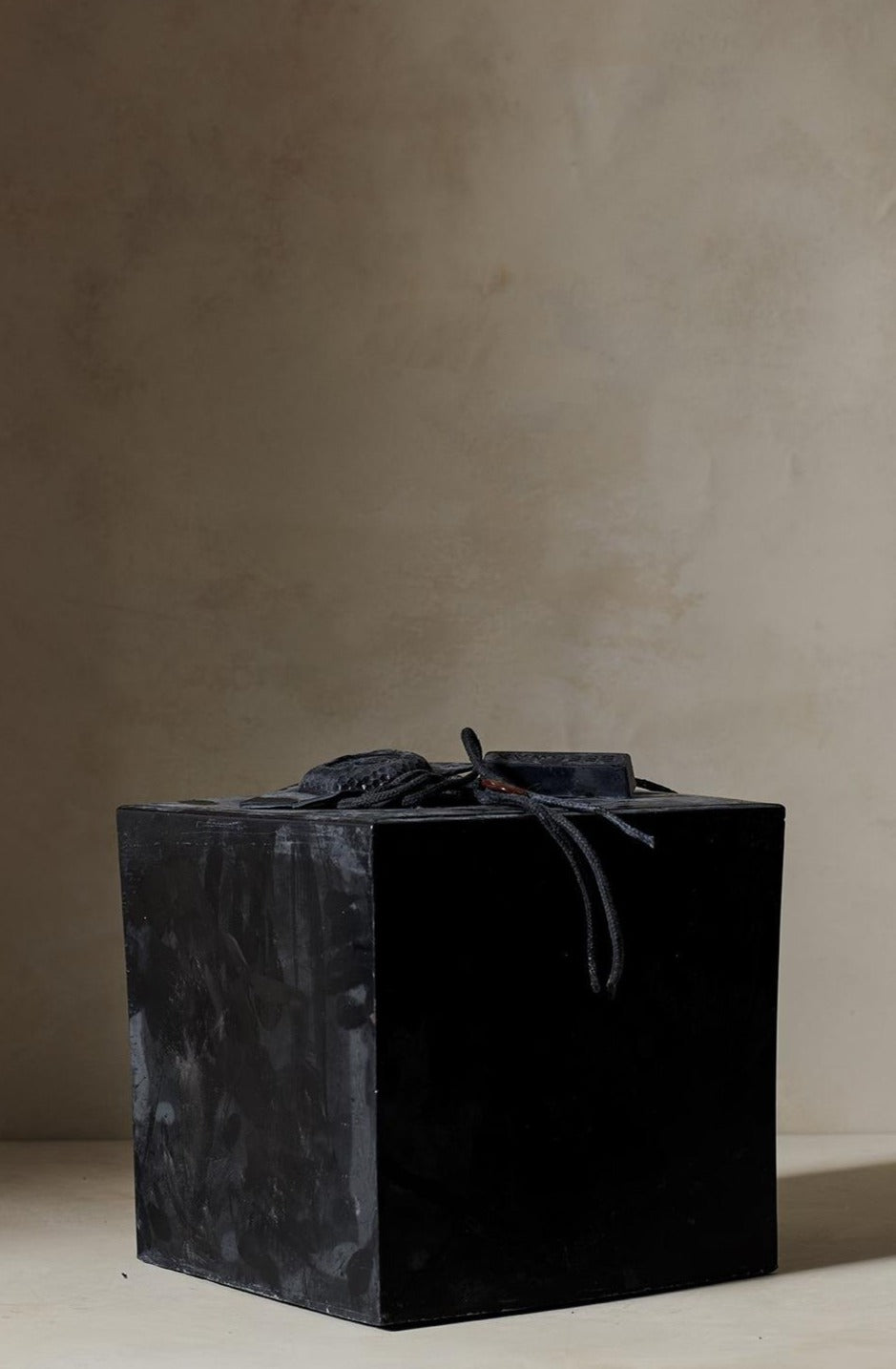 Black Celine Cannon Candle Cube Black L