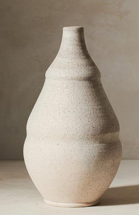 Indented Vase Ivory