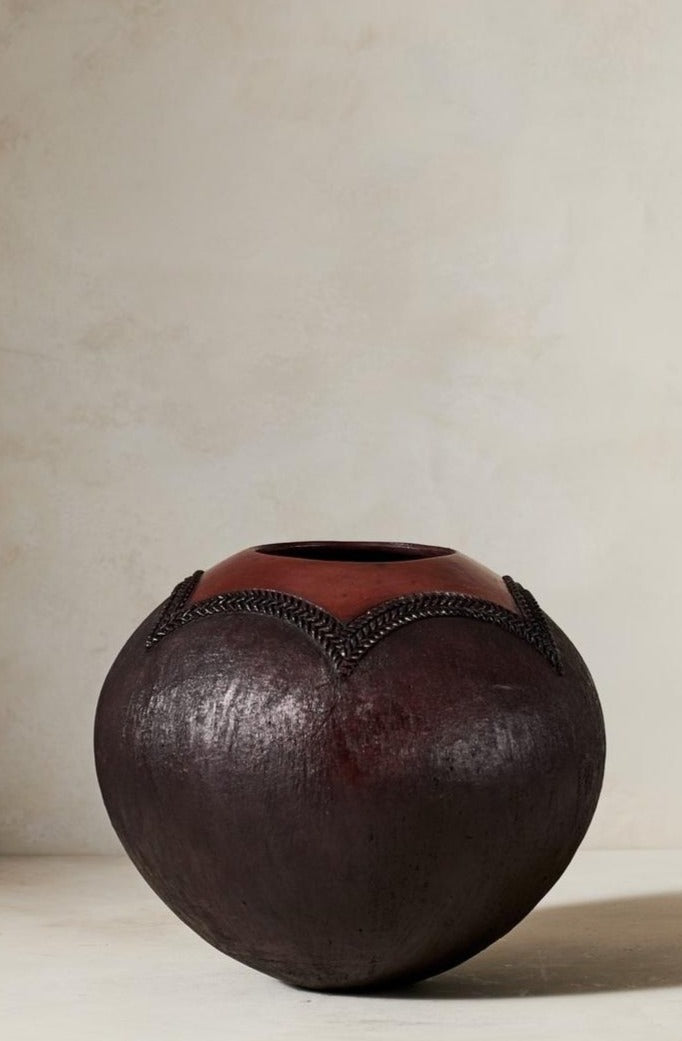 Jabulile Nala Ceramic Pot Two Brown
