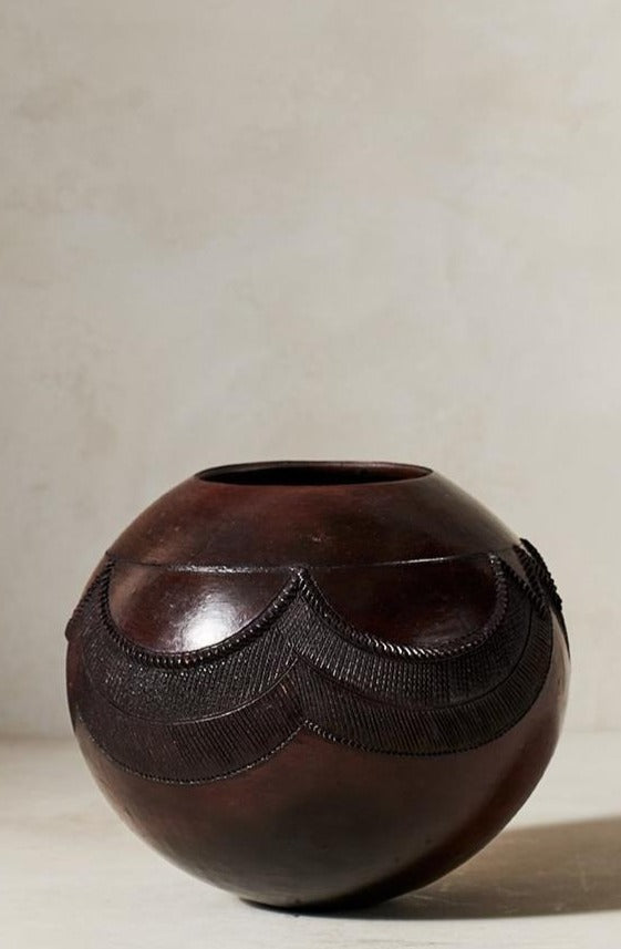 Jabulile Nala Ceramic Pot Five Brown
