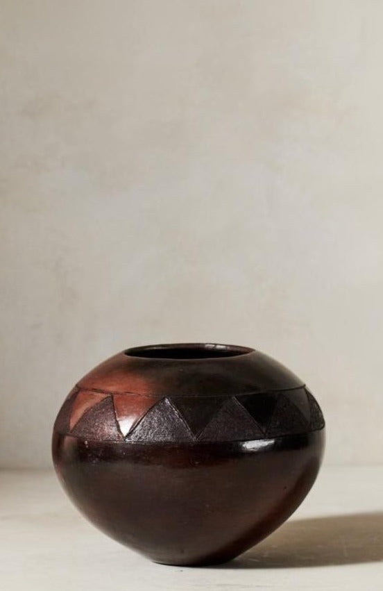Jabulile Nala Ceramic Pot Seven Brown