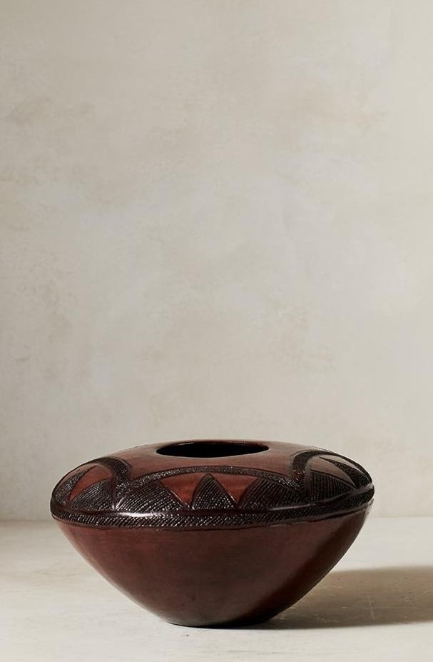 Jabulile Nala Ceramic Pot Six Brown