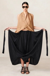 Sarong Skirt Black XS S M L XL