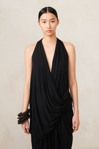 V Neck Drape Top Black XS S M L XL