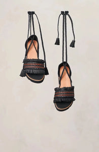 UZ x Gentle Souls Vayan Sandal Black and Brown 6 7 8 9 10 11