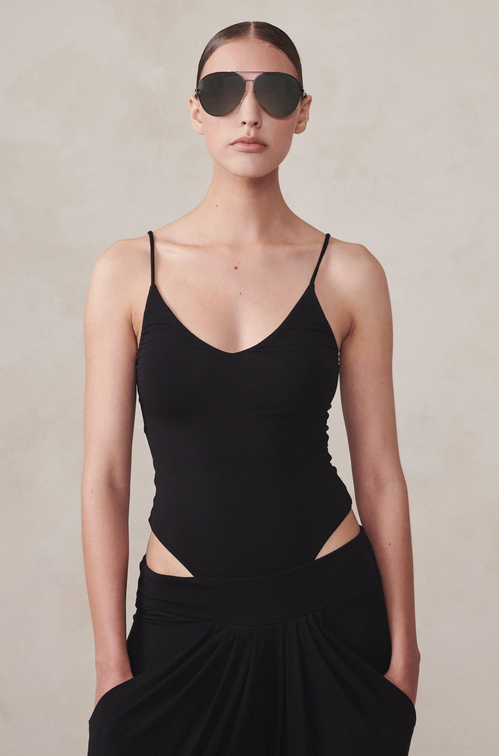 Signature Jersey Bodysuit Black XS S M L XL