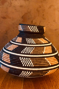 Colombian Round Multicolor Basket with Lid Multicolor O/S
