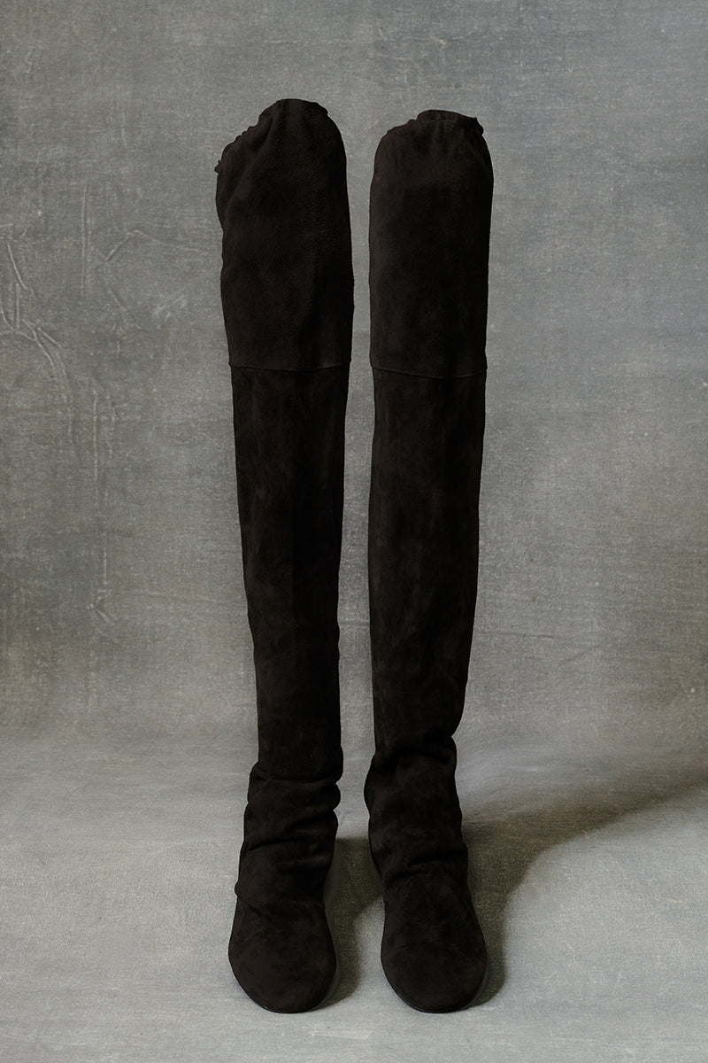 Suede Tall Boot Black 36 37 38 39 40 41 42