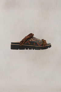 UZ x Gentle Souls Plezi Sandal Black and Brown 6 7 8 9 10 11