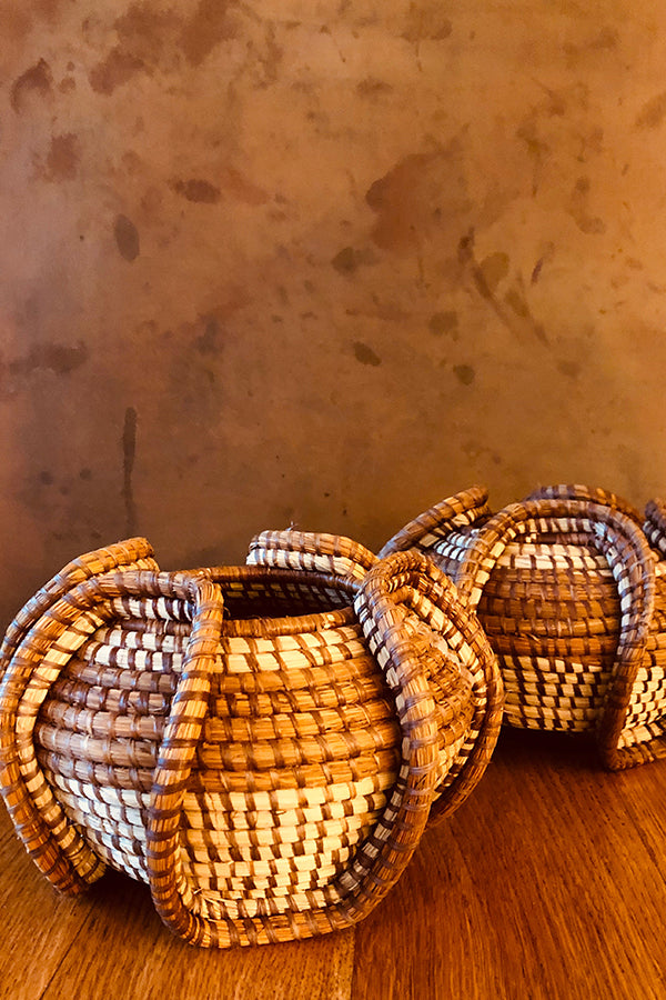 Colombian Small Round Natural Basket Natural O/S