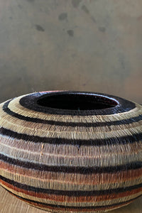 Colombian Neutral Stipe Bowl Brown