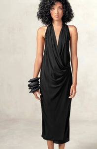 Drape Dress Black XS S M L XL