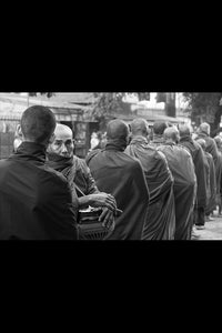 Monk Breakfast Line by Gigi Stoll Black and White