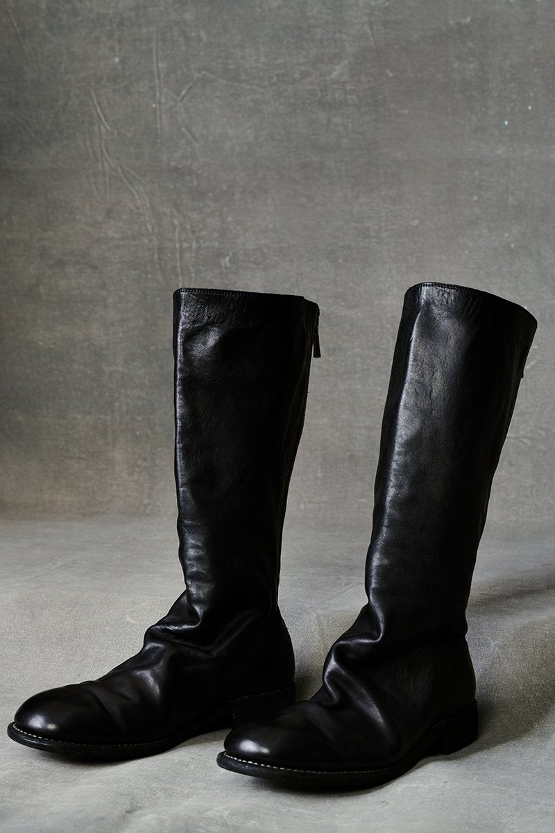 Guidi Knee High Back Zip Boot - Black Black 37 37.5 38 38.5 39 39.5 40