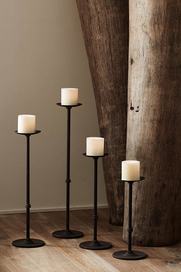 Iron Candle Holder Brown XS S M L