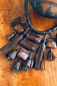 Prayer Amulet Necklace Black and Brown