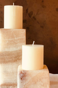 Salt Candle Holder Natural