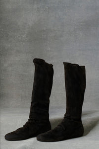 Suede Short Boot Black 36 37 38 39 40 41 42