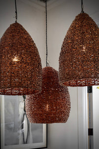 Hanging Basket Light Fixture Tan
