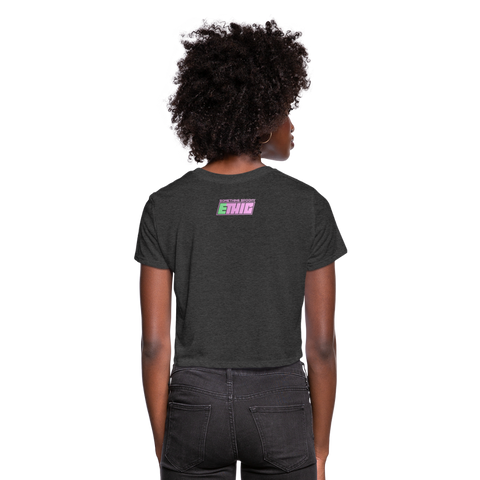 Lost Souls Cropped T-Shirt - deep heather