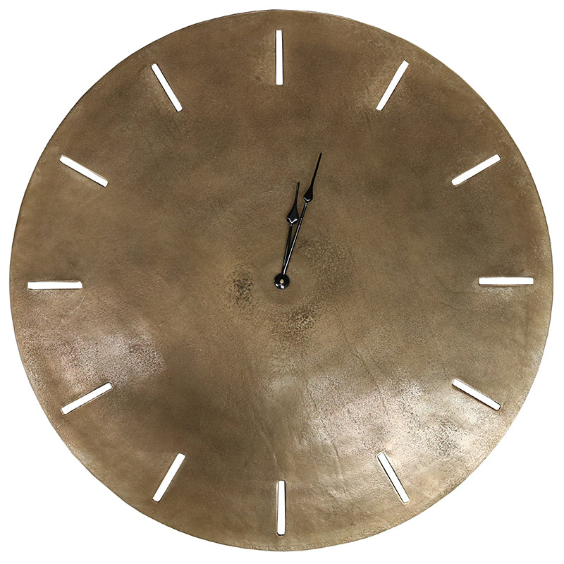 Le Forge Songo Clock Brass 73cm