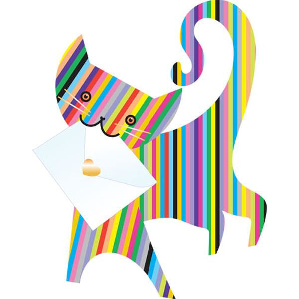 Cat Lolly Greeting Card - Special Delivery