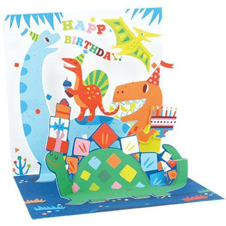 Dinosaurs Pop-up Birthday Card - Up With Paper