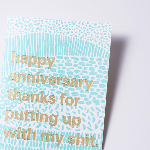 Put Up Anniversary Card- Egg Press by 1973