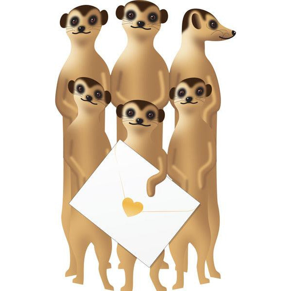 Cat Meerkats Greeting Card - Special Delivery