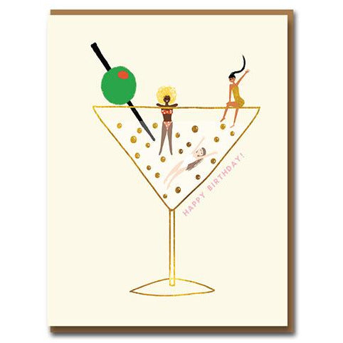 Have a Drink on Us Birthday Card - 1973 by Carolyn Suzuki