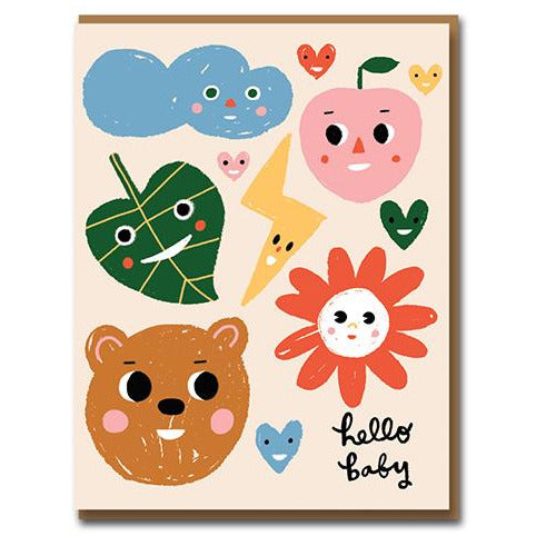 Sunny Faces Greeting Card - 1973 By Carolyn Suzuki