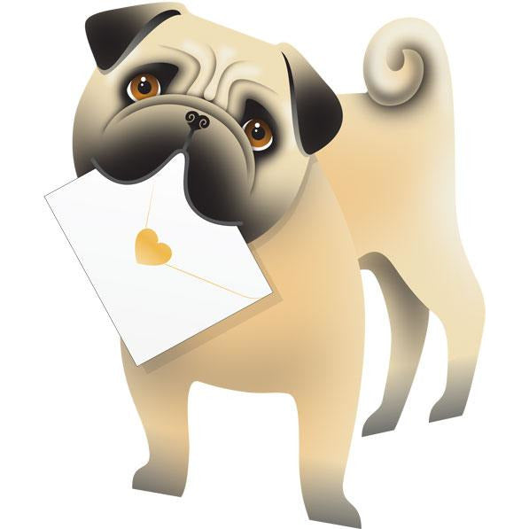 Dog Monty Greeting Card - Special Delivery