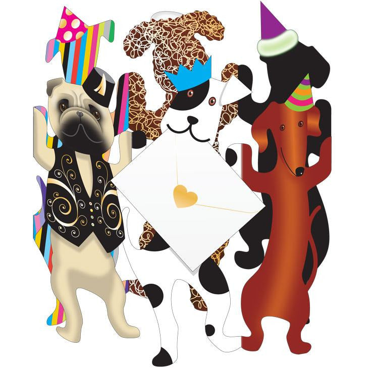 Party Dogs Greeting Card - Special Delivery