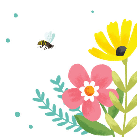 Bees and Flowers Pop-up Birthday Card - Up With Paper