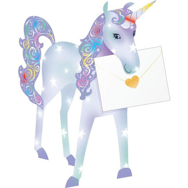 Unicorn Greeting Card - Special Delivery