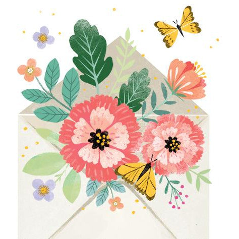 Floral Envelope Pop-up Greeting Card - Up With Paper